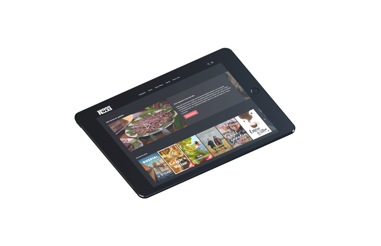 Spoon Fellas auf einem iPad
